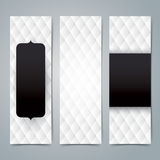 Collection banner design, Black and white upholstery background. Stock Photos