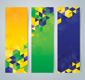 Collection banner design, Brazil flag color background. Stock Images