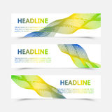 Collection banner design, Brazil flag color background, vector illustration. Set of banners. Three color concept. Geometric background with Brazil flag colors Royalty Free Stock Photos