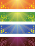 Collection of banners Royalty Free Stock Photos