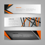 Collection banners with abstract triangles and stripes template