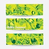 Collection banners floral design Stock Photo