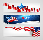 Collection of banners for Independence Day Royalty Free Stock Photos
