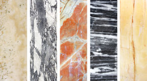 Collection of banners with marble texture Stock Photos