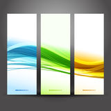 Collection banners modern wave design Royalty Free Stock Photography
