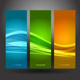 Collection banners modern wave design Stock Photography