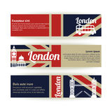 Collection of banners and ribbons with London Stock Photos