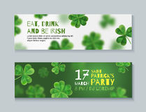 Collection of banners for St. Patrick's Day. Royalty Free Stock Image