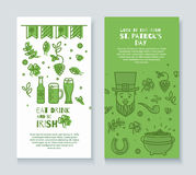 Collection of banners for St. Patrick's Day. Stock Photography