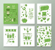 Collection of banners for St. Patrick's Day. Royalty Free Stock Photos