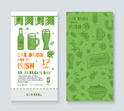 Collection of banners for St. Patrick's Day. Royalty Free Stock Photo