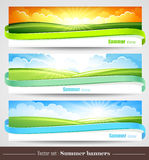 Set of summer banners Stock Images