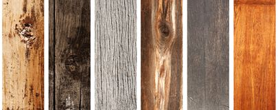 Set of wooden banners Stock Image