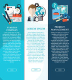Collection of banners for your design. Flat vector illustration. Startup. Business. Project management. Vector. Illustration Stock Photo