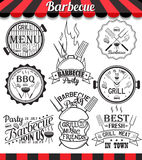 Collection of barbecue signs, symbols and icons. Stock Image