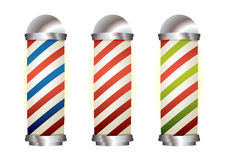 Collection barbers pole Royalty Free Stock Photos