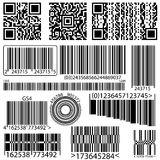 Collection of barcode qr code Royalty Free Stock Images