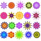 Collection bariolée des couleurs géométriques. Images libres de droits