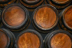 Collection of barrels royalty free stock photography
