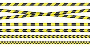 Barrier Tapes Yellow And Black royalty free illustration