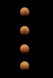 Collection of Basketballs Isolated On Black. Collection of  Basketballs From Different Angles Isolated on Black Stock Photography