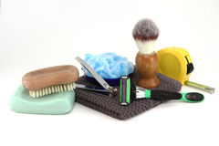 Working Mans Bathroom Supplies Royalty Free Stock Photography