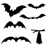 Collection of bats isolated on white background,  Stock Photo