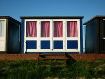 A collection of Beach Huts, Sutton on Sea. Stock Photo