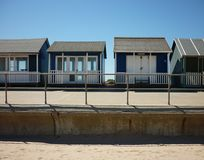 A collection of Beach Huts, Sutton on Sea. Royalty Free Stock Images