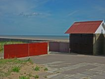 A collection of Beach Huts, Sutton on Sea. Stock Photography