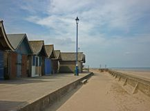 A collection of Beach Huts, Sutton on Sea. Royalty Free Stock Photo