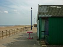 A collection of Beach Huts, Sutton on Sea. Royalty Free Stock Photography
