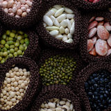 Collection of bean, fiber food make heart health Stock Photography