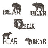 Collection of bear logotypes Stock Images
