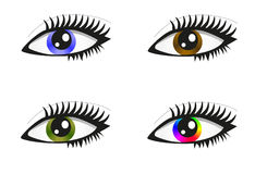 Collection of beautiful colored eyes Stock Image
