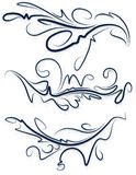 A collection of beautiful decorative items for your design. A collection of beautiful decorative items Stock Images