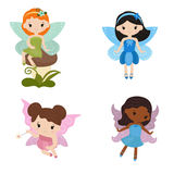 Collection of beautiful fairies. Stock Images