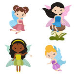 Collection of beautiful fairies. Royalty Free Stock Images