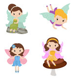 Collection of beautiful fairies. Stock Photography