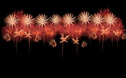 Collection of beautiful fireworks Stock Photo