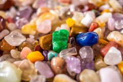 Collection of beautiful mineral stones close up stock images