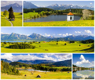 Collection of beautiful panorama landscape in Bavaria Royalty Free Stock Image