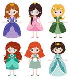 Collection of beautiful princesses. Stock Photography