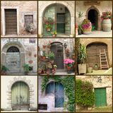 Collection of beautiful rustic doors royalty free stock photos