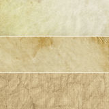 Collection beige de milieux de cru photographie stock