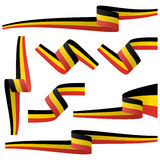 collection of belgian country flag banners Stock Photo
