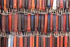Collection of belts Royalty Free Stock Photo