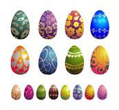 Collection of best vector egg Royalty Free Stock Photo
