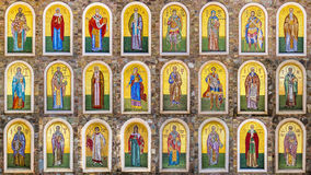 Collection of biblical figures, made with mosaic tiles Royalty Free Stock Images