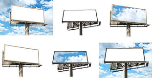 Collection of billboards in high resolution Stock Image